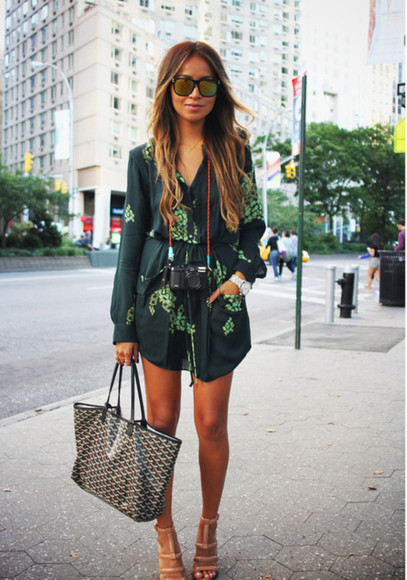 green dress green floral kimono dress floral shirt long sleeves long sleeve dress pockets dress with pockets vneck dress vneck