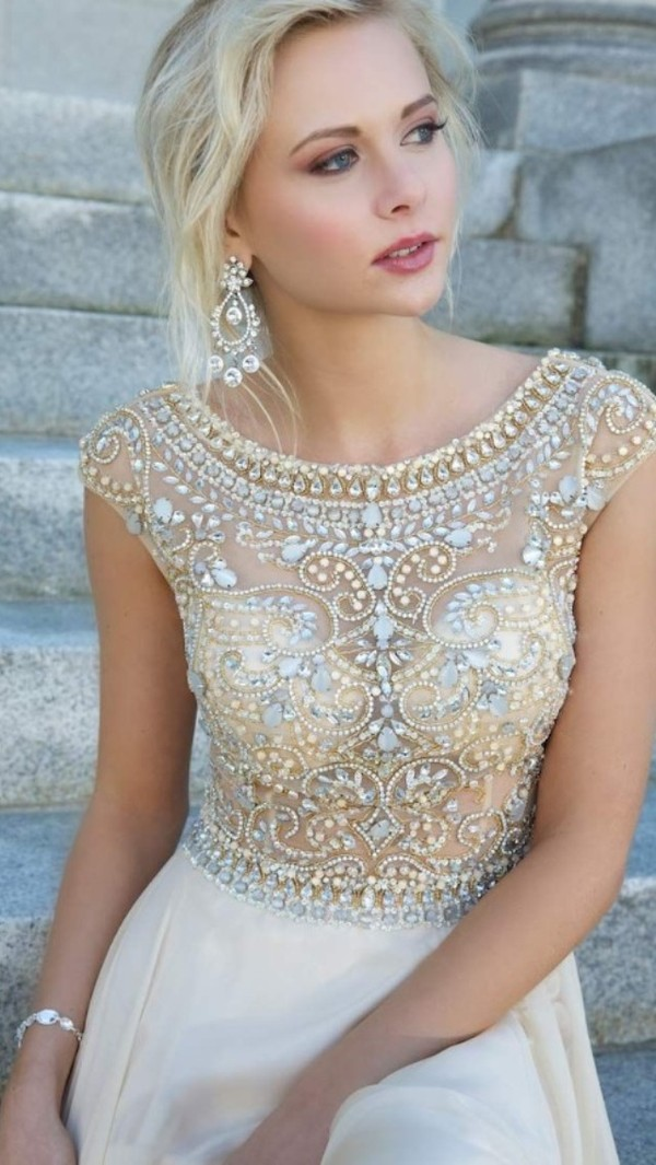dress gold prom dress creme dress homecoming dress gold dress homecoming dress beads short dress