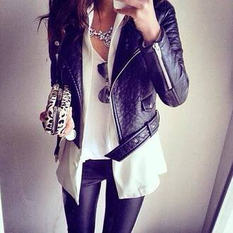 jacket black perfecto leather jacket girly wishlist