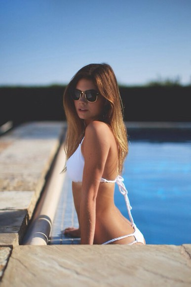 swimwear white swimwear white string