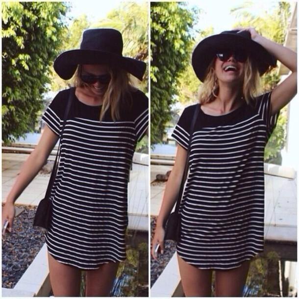 dress black and white t-shirt  dress