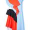 Msgm - asymmetric ruffle dress - women - cotton - 42, cotton