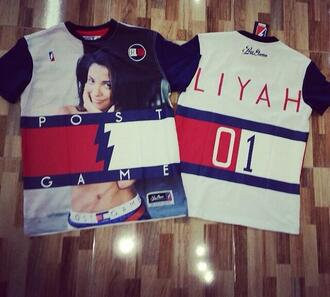 aliyah tommy hilfiger t-shirt red white and blue shirt aaliyah shirt tommy hilfiger shirt aaliyah tommy hilfiger  top aaliyah dope throwback trendy