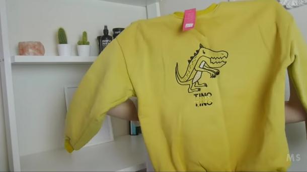 sweater dinosaur yellow vintage tinotino tino tino tino