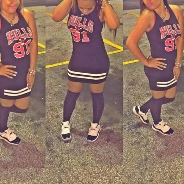 a4be879e4c1aa dress, trendy, dope, chicago bulls, number, black and white, forever ...