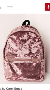 bag,pink suede velvet