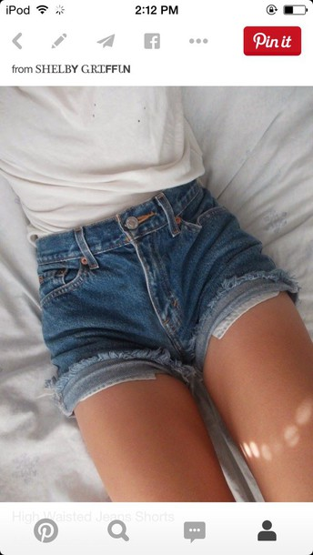 shorts high rise denim