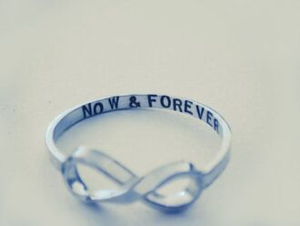 jewels infinity ring silver now and forever