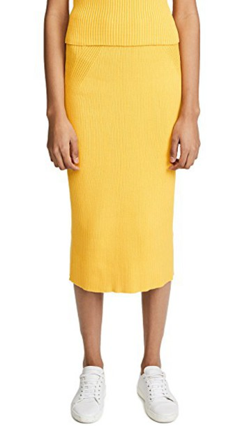 Mara Hoffman skirt yellow