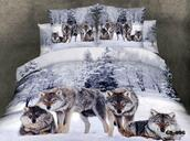 make-up,wolves,bedding,duvet cases,pillow covers,flat bed sheet,home textiles,king queen full size