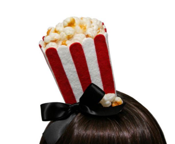 Hat Popcorn Hat Food Inspired Accessories Pop Corn