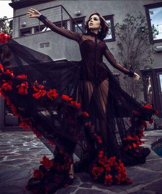 dress gown prom dress long prom dress long dress see through sheer olivia culpo instagram black dress underwear sandals