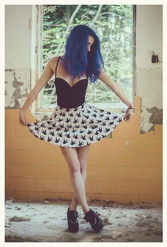 dress punk black flowy cute goth hipster