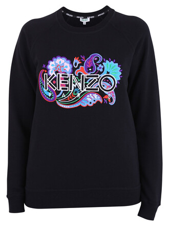 sweatshirt embroidered cotton black sweater