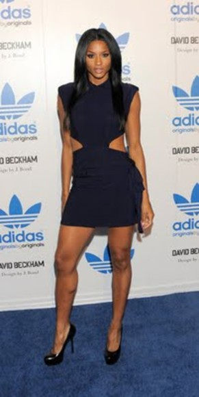 adidas dress blue dress ciara celebrity dresses