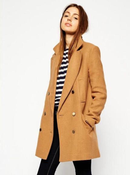 coat camel wool camel coat wollen coat button coat fall outfits winter coat