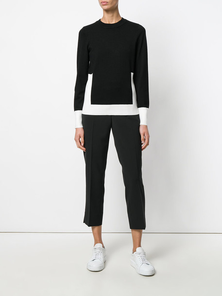 pleated cropped women spandex black pants
