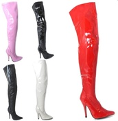 shoes,womens thigh high fetish kinky boots