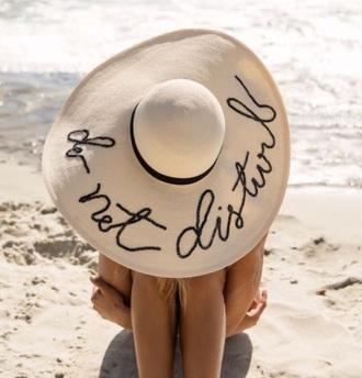 hat beige white beach sun hat white hat