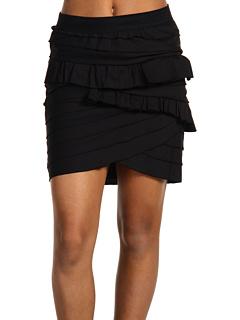 BCBGMaxAzria Ruffle Skirt Black - Zappos.com Free Shipping BOTH Ways