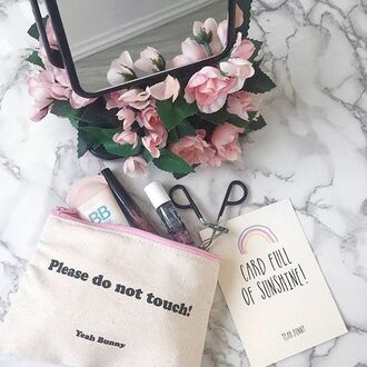 make-up yeah bunny pouch makeup bag
