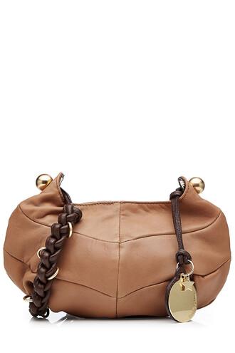 bag shoulder bag leather brown