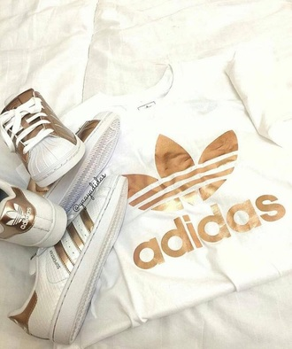 top white gold adidas
