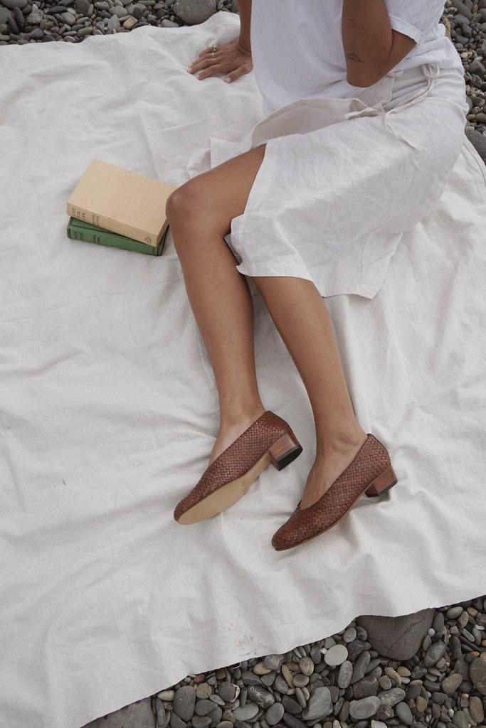 Cisco Woven Heel - Antique Tan