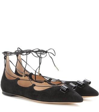 lace suede black shoes