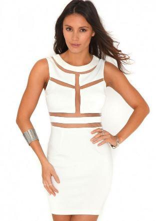 Sheer Lines Dress