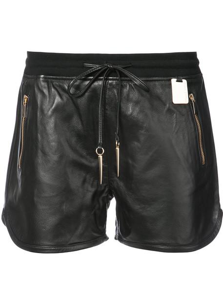 Thomas Wylde shorts leather shorts zip women spandex leather black
