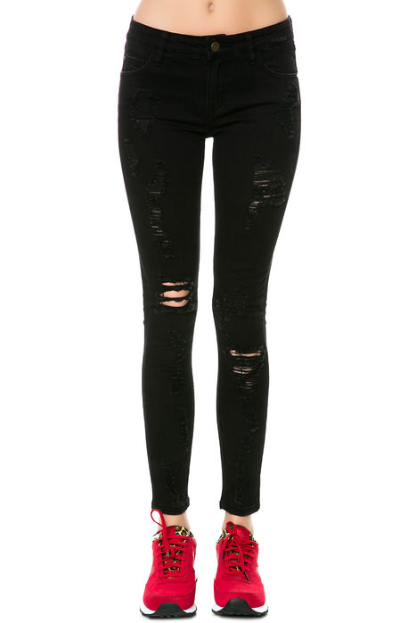 Pistola denim pants anais mid rise skinny denim in noir black