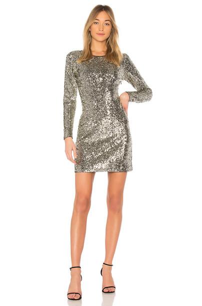 A.L.C. dress metallic silver