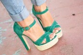 shoes,heels,high heels,green,sandals,high heel sandals