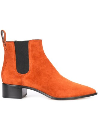 women spandex boots chelsea boots leather suede yellow orange shoes