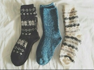 socks snowflake thick snow fall outfits tribal pattern