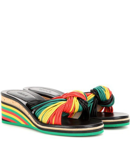 sandals wedge sandals leather shoes