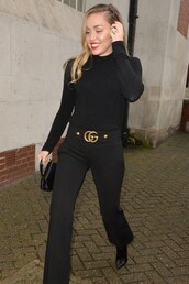 top,pants,all black everything,miley cyrus,celebrity,fall outfits