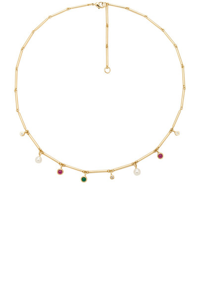 Elizabeth and James necklace metallic gold jewels