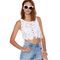 Lovely lace sleeveless white crop top · fashion struck · online store powered by storenvy
