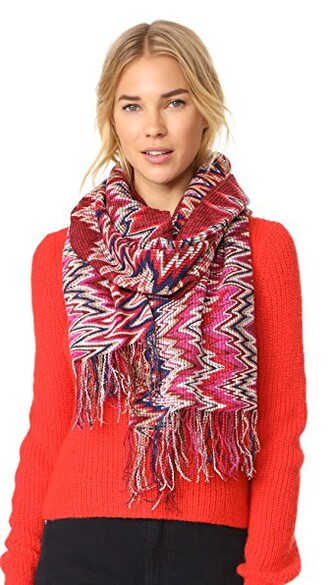 scarf pink red