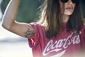 t-shirt,coke,cola,shirt,red,soft,lace,loose,coca cola,loosy tshirt,grunge,tattoo