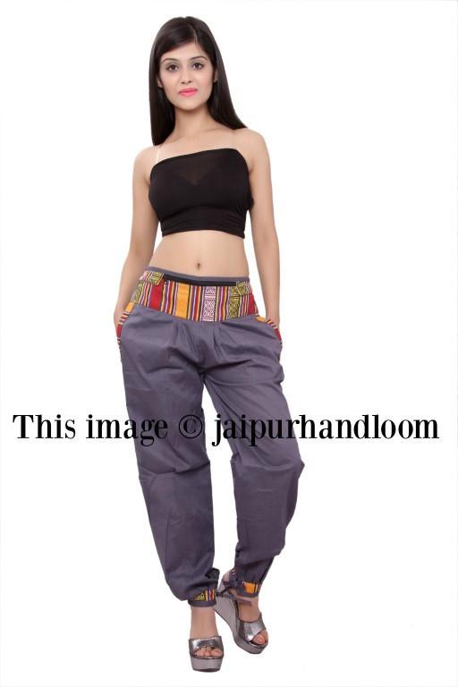 fdda88b285aa3 womens pants with zipper pockets bohemian yoga pants burning man costume  hippie thai harem pants