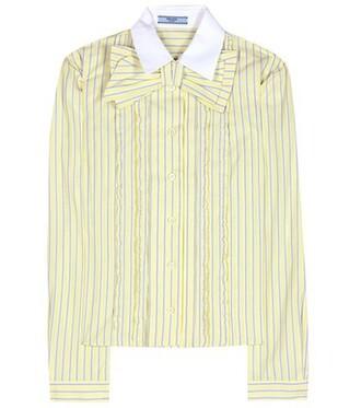 shirt cotton yellow top