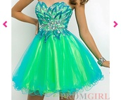 dress,strapless prom dress,prom dress,short prom dress,neon,green dress,blue prom dress,turquoise,homecoming,long dress,sequins,one shoulder dress,aqua,baby blue,green prom dress
