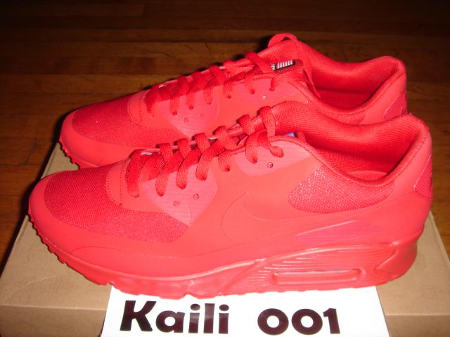 Nike Air Max 90 Hyperfuse QS Red Independence Day Yeezy Solar Red Size 9 5 10 12 | eBay