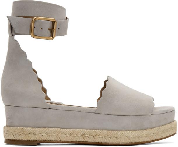 sandals suede grey shoes