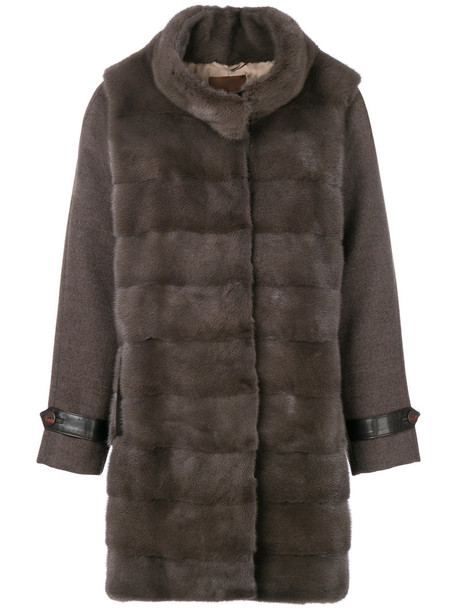 Liska coat fur women wool grey
