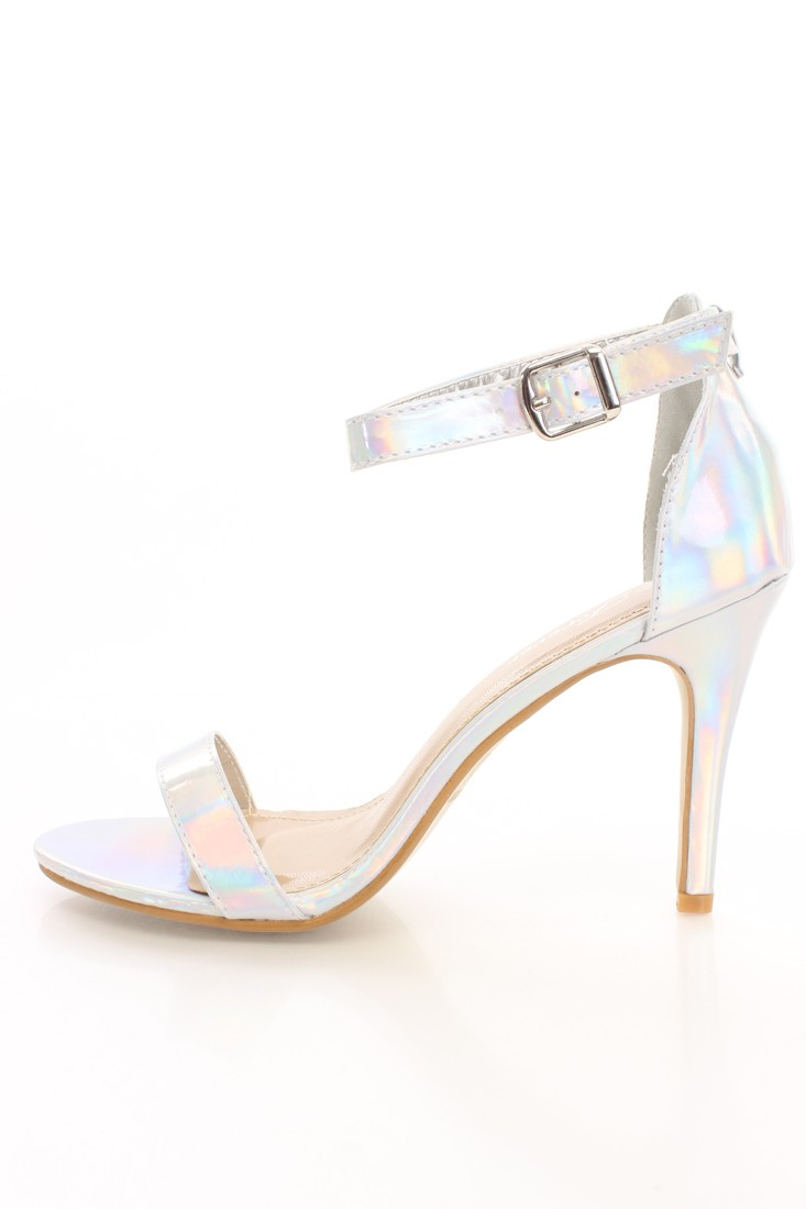 Iridescent Silver Heels - Is Heel