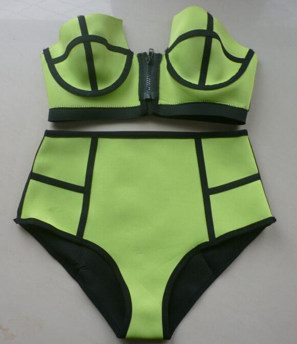 Aliexpress.com : buy 2015 swimwear bikini cut out swimsuit black strappy bikini high waisted string bikini retro bathing suit from reliable bikinis set suppliers on igoodbuy